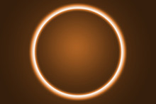 Fondo De Un Eclipse Naranja Co...