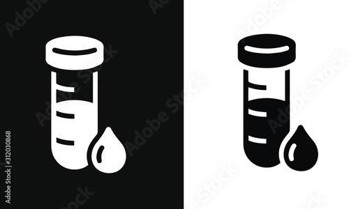 Cuadros en Lienzo  diabetes icons vector design black and white background