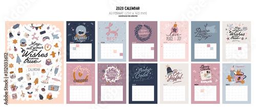 Vászonkép Wall calendar