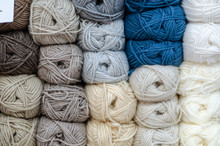 Pile Of Wool Rolls  In Haberda...