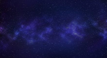 Milky way galaxy with stars and space background.