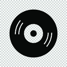 Disc Vinyl Icon Isolated On Transparent Background