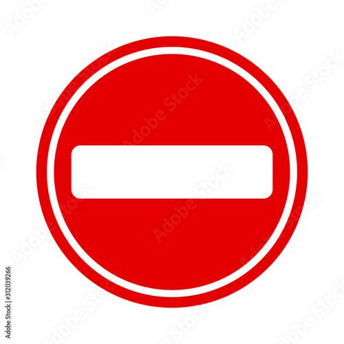 Fototapeta znak zakazu obraz
