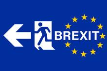 Brexit Concept Uk Leaving European Union Vector