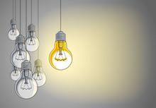 Light Bulbs Beautiful Vector I...