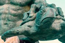 Neptune Statue Close-up Of Tur...
