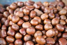 Closeup Of Chestnuts
