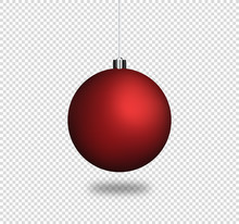 Christmas Ball - Red Bauble Template