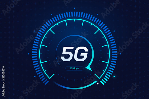 Cuadros en Lienzo 5G network wireless technology