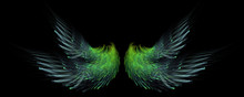 Abstract Green Fairy Wings Background