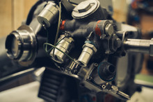 Vintage Style Closeup Engineer...
