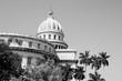 Cuba - Capitolio. Black and white style.