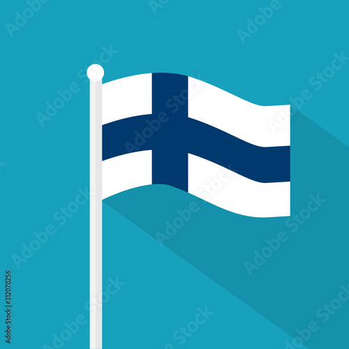 Finland flag icon- vector illustration Fototapeta
