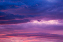 Abstraction In The Sky At Sunset