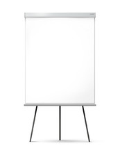 Blank Office Flipchart On The ...