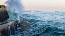 Big Wave Crushing During High ...