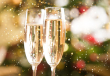 Happy New Year Champagne Glasses Background
