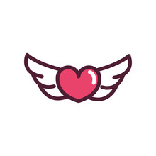 Happy Valentines Day Wings Hea...