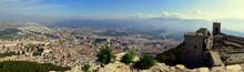 Herrlicher Panoramablick Von Der Burg Santa Catalina Auf Die Stadt Jaen In Andalusien