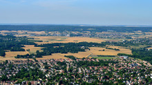 Verneuil Sur Seine, France - July 7 2017 : Aerial Picture Of The Town