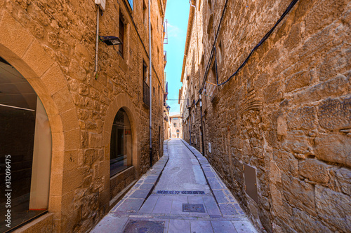 Ancient street in historic medieval center of Solsona,Catalonia.