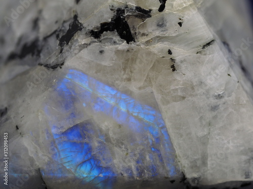 Fototapeta Extreme Close up of Rainbow Moonstone Pyramid