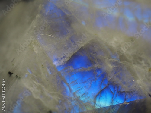 Extreme Close up of Rainbow Moonstone Pyramid Canvas Print