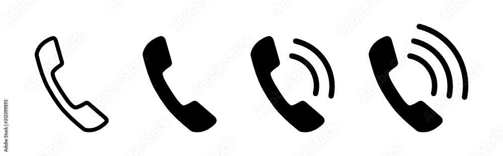 Obraz słuchawka telefoniczna ikona fototapeta, plakat