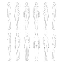 Fashion Template Of Lady In St...