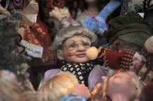 Vintage Dolls In A Shop Window