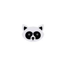 Raccoon Face. Raccoon Mascot I...