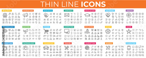Best vector thin line icons