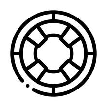Lifebuoy Circle Icon Vector. O...