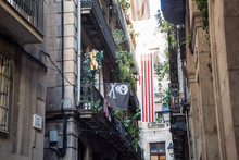 Pirate Flag In An Alley In Bar...
