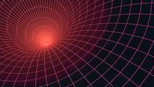 Abstract Fractal Background Tunnel