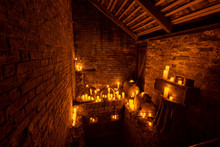 Candle Lit Room With Many Cand...