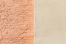 Orange Cream Split Color Concrete Background Texture