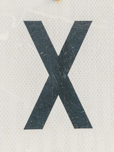 Letter X Railroad Crossing Sig...