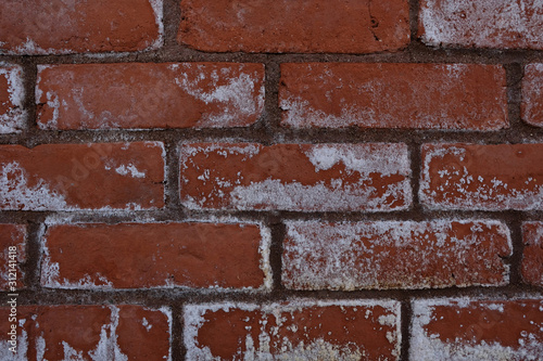 weathered grunge red brick wall background