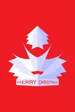 Merry Christmas Design In Red And White Color Theme