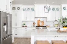 A Beautiful Modern Farmhouse Kitchen.