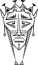 Tribal Decorative Mask Isolate...