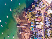 Watsons Bay Aerial From Helicopter In Sydney Australia