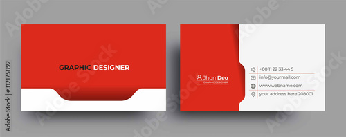 Fototapeta Modern Business Card - Creative and Clean Business Card Template. obraz