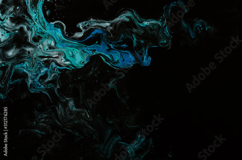 Fototapety, obrazy: Colorful abstract painting background. Liquid marbling paint background. Fluid Ink Visual Arts. Mix of acrylic vibrant colors. Fluid canvas painting texture. Style incorporates the swirls of marble