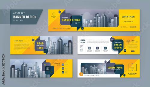 Obraz Abstract banner design web template Set, Horizontal header web banner. Modern cover header - fototapety do salonu