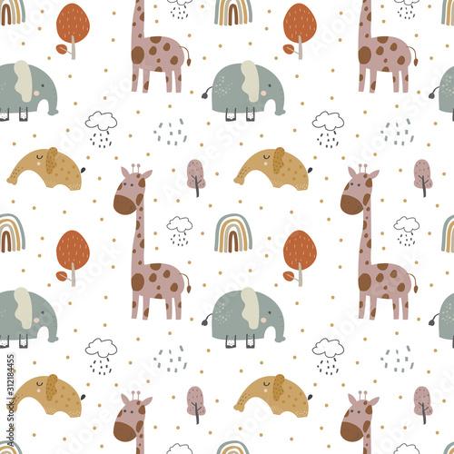zyrafa-i-slon-slodkie-dziecko-bez-szwu