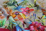 Multi-colored fabric as a background