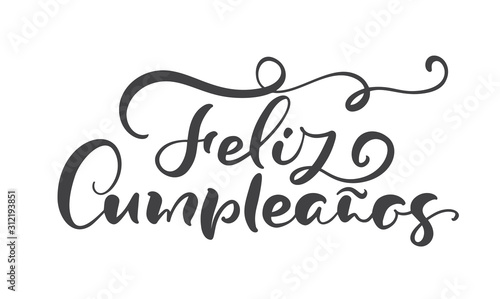 Feliz Cumpleanos, translated Happy Birthday in Spanish Wallpaper Mural