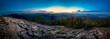Leinwanddruck Bild - Sunset sunrise from mountain hill Klic to the Luzicke mountains